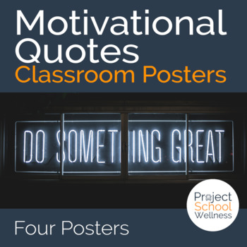 Motivational Posters (Growth Mindset Quotes, Classroom Poster, School Counselor)