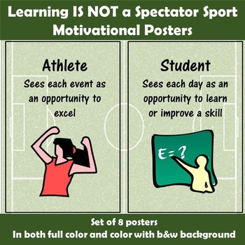 Motivational Posters - Learning is Not a Spectator Sport