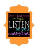 Motivational Poster: Listen