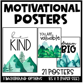 Motivational Posters - Nature Theme