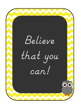 Motivational Posters, Owl and Chevron