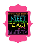 Motivational Poster: Pay Attention