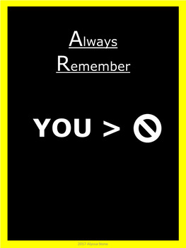 Motivational Posters - Yellow - Vertical