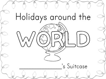 Holidays Around the World Suitcase and Passport