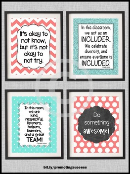 Team Building Inspirational Posters Motivational Quotes INCLUSION 8x10 or 16x20