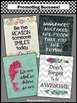 Feathers Classroom Decor BUNDLE Inspirational Quote Posters Back to School