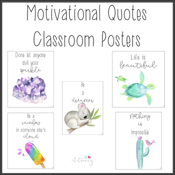Motivational Posters for Classroom: Watercolor Art