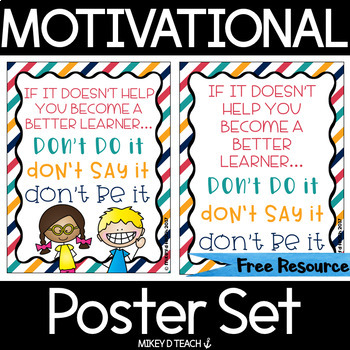 Motivational Posters for Classrooms