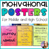Motivational Posters for Middle School and High School Students