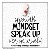 Growth Mindset Motivational Poster and Journal Set (Speak