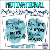Motivational Posters for Teens {Turquoise Watercolour Splash Classroom Decor}