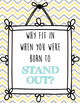 Motivational Posters for students, teal, yellow, and grey