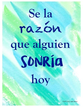 Motivational Posters for the Classroom in English and Spanish