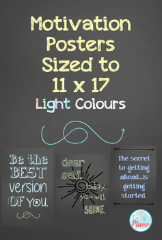 Growth Mindset Posters  (light, 11x17 size)
