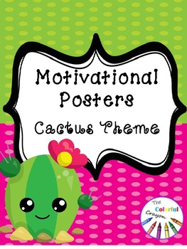 Motivational Posters with Cactus Theme
