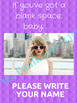 Motivational Quote Classroom Poster feat. Taylor Swift Blank Space No-Name