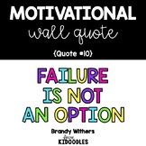 Failure is Not an Option Motivational Quote Letters