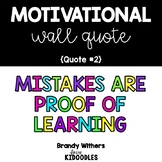 Mistakes are Proof of Learning Motivational Quote Letters