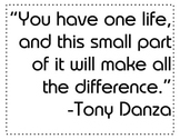 Motivational Quote Poster from Tony Danza