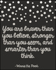 Motivational Quote Posters ~ Beautiful with Metallic Foil, Black (Set of 8)