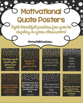 Motivational Quote Posters ~ Beautiful with Metallic Foil,