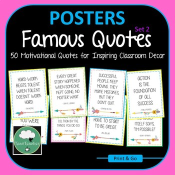 Motivational Quote Posters Black&White x50 -Great Range of Motivational Thoughts