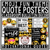 Emoji Theme Classroom Decor- Motivational Posters & Growth Mindset Posters