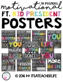 Motivational Quote Posters | Kid President | Chalkboard&Brights Themed