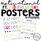 Motivational Quote Posters | Kid President | Classy Brights Theme