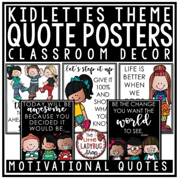 Motivational Quote Posters -Melonheadz Theme Classroom Decor