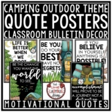 Inspirational Quotes Posters- Camping Theme Classroom Decor Motivational Posters