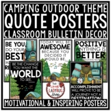 Camping Theme Classroom Decor- Motivational Posters & Growth Mindset Posters