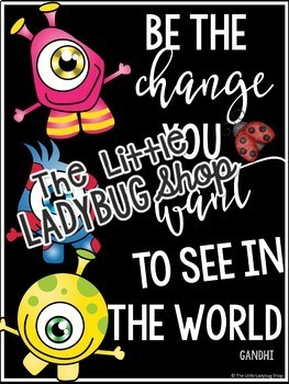 Inspirational Quote Posters - Monsters Theme Classroom Decor