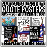 Motivational Quote Posters - Nautical Theme Classroom Deco