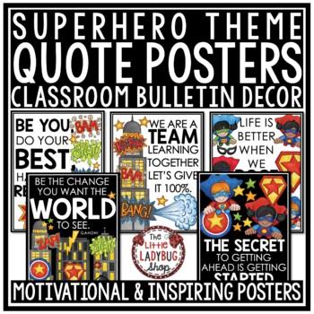 Superhero Classroom Theme -Motivational Posters & Growth Mindset Posters