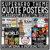 Superhero Classroom Theme -Motivational Posters & Growth Mindset Posters