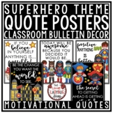 Superhero Classroom Theme -Motivational Posters & Growth M