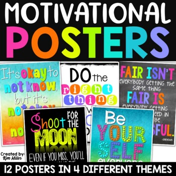 Motivational Quotes Posters for the Classroom {Neon Decor Set}