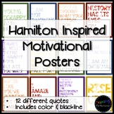Motivational Quote Posters for the Classroom - Hamilton Inspired