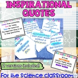Motivational Quote Science Posters to Promote a Growth Mindset Classroom Decor