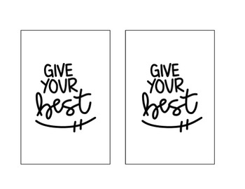 Motivational Quote Signs for IKEA's Tolsby Frames