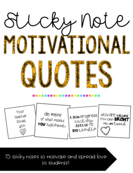 Motivational Quote Sticky Note
