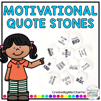 Motivational Quote Stones for Students and Staff
