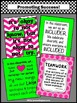 Classroom Decor Bundle of Posters, Pink and Green