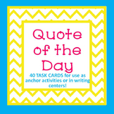 Motivational Quote of the Day TASK CARDS