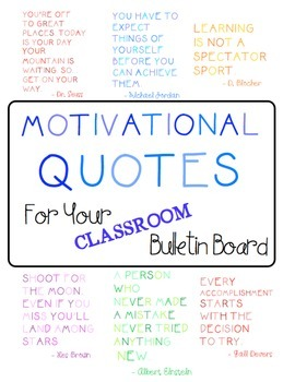 Motivational Quotes (Bulletin Board) FREEBIE