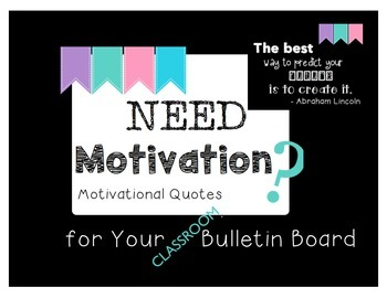 Motivational Quotes { Bulletin Board } Freebie