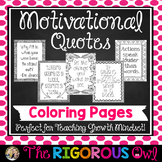 Motivational Quotes Coloring Pages Growth Mindset