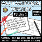 Motivational Quotes Growth Mindset Coloring Posters (VOL. 1)