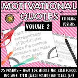 Motivational Quotes Growth Mindset Coloring Posters (VOL. 2)